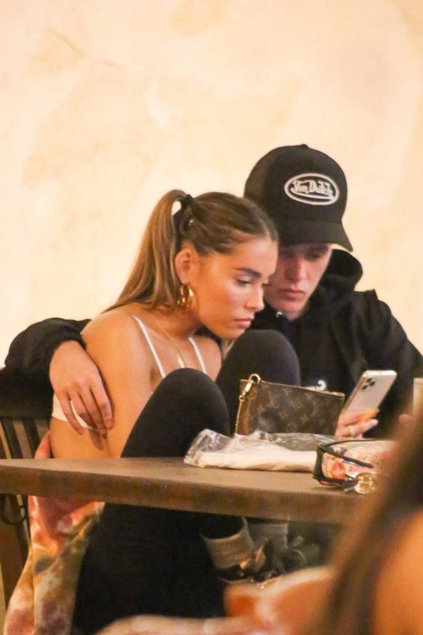 Madison Beer - Dinner with a friend at Saddle Ranch in West Hollywood