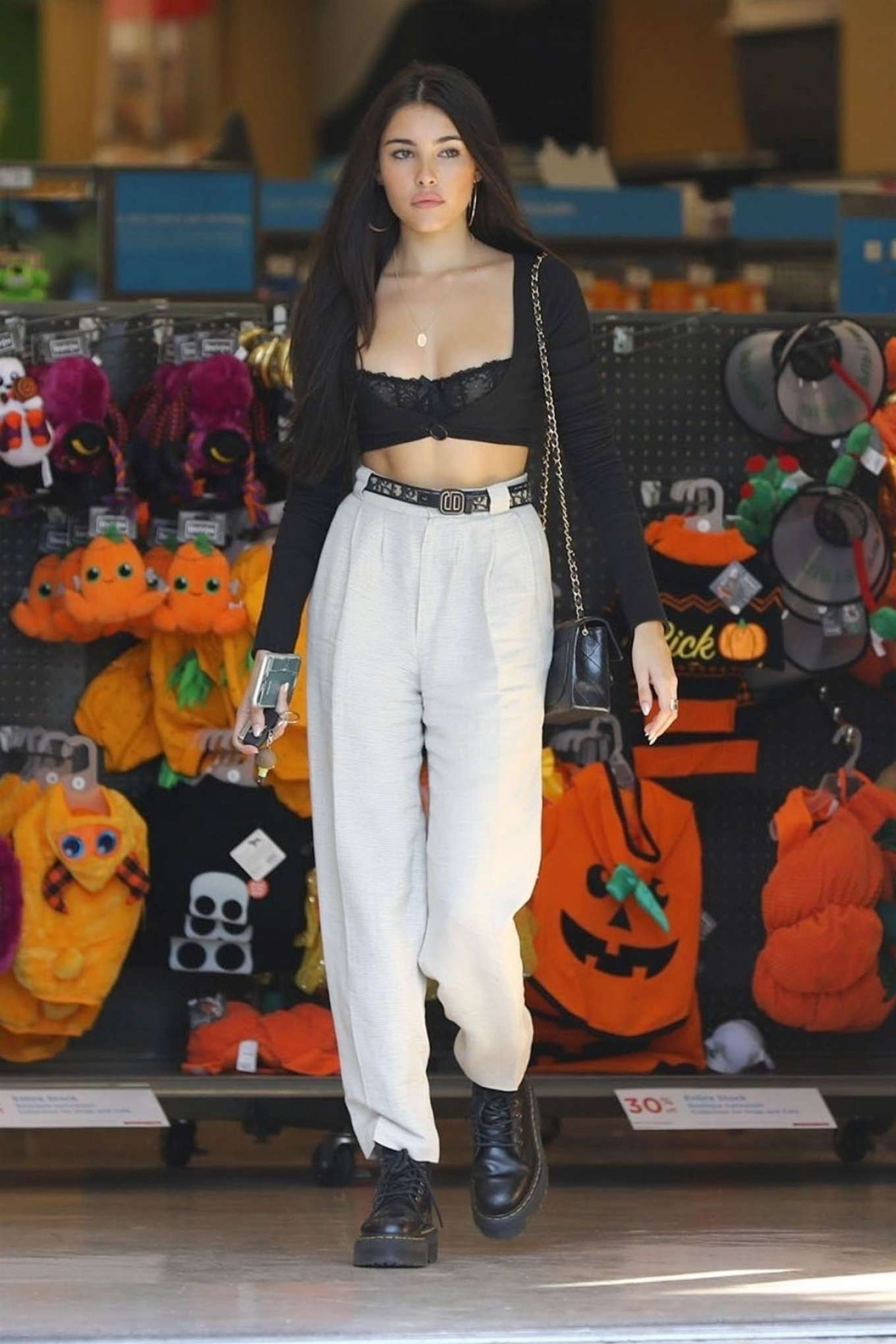 Madison Beer 2018 : Madison Beer in Black Crop Top -08