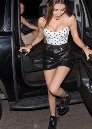 Madison Beer in Black Mini Skirt - Leaving Delilah in West Hollywood