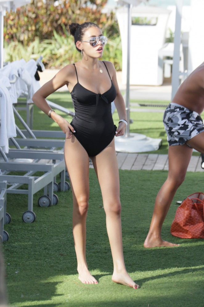 Madison Beer 2015 : Madison Beer in Black Swimsuit -08