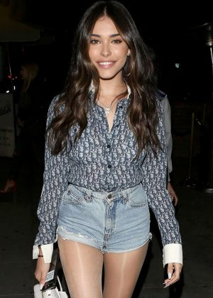 Madison Beer in Denim Shorts - Leaving Delilah in West Hollywood