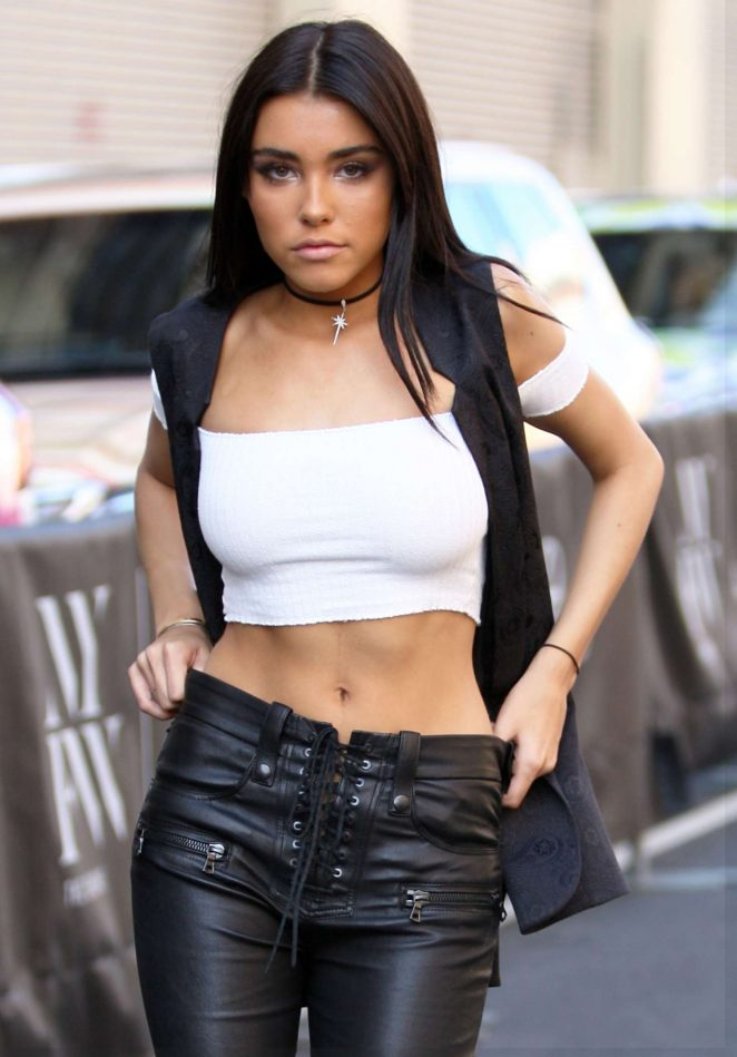 Madison Beer in Leather out in New York City