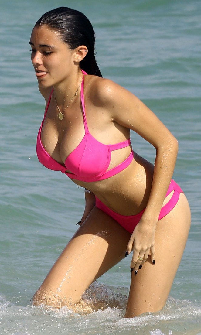Madison Beer in Pink Bikini in Miami (adds)