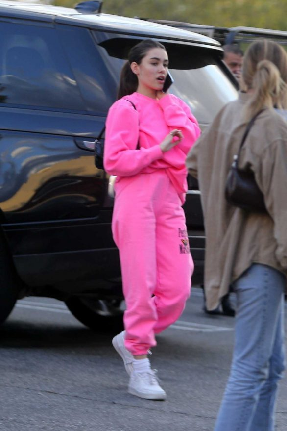 Madison Beer in Pink - Out for lunch at Chin Chin in West Hollywood