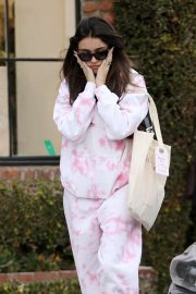 Madison Beer in Pink Shopping at Glossier in West Hollywood