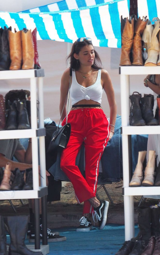 Madison Beer in Red Pants out in Hollywood