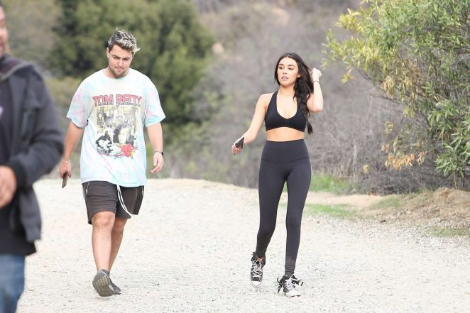 Madison Beer in Tights and Sports Bra -15