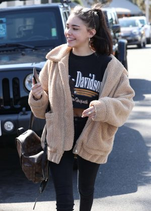 Madison Beer in Tights - Shopping on The Sunset Strip in LA