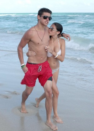 Madison Beer: In White Bikini at a Beach in Miami (adds)-06