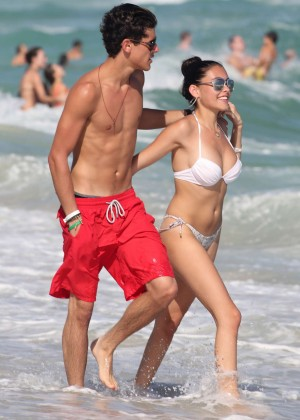Madison Beer: In White Bikini at a Beach in Miami (adds)-09