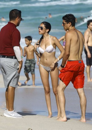 Madison Beer: In White Bikini at a Beach in Miami (adds)-126