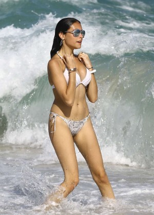 Madison Beer: In White Bikini at a Beach in Miami (adds)-131