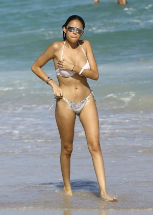 Madison Beer: In White Bikini at a Beach in Miami (adds)-20