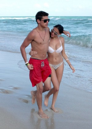 Madison Beer: In White Bikini at a Beach in Miami (adds)-22