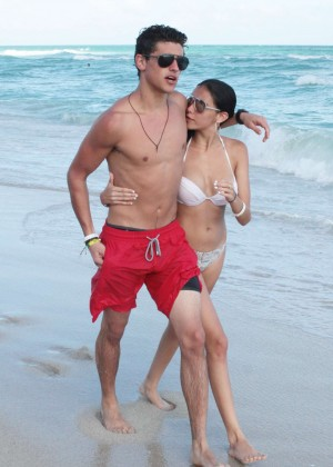 Madison Beer: In White Bikini at a Beach in Miami (adds)-33