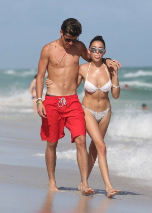 Madison Beer: In White Bikini at a Beach in Miami (adds)-53