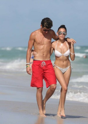 Madison Beer: In White Bikini at a Beach in Miami (adds)-54