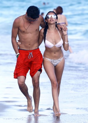 Madison Beer: In White Bikini at a Beach in Miami (adds)-56