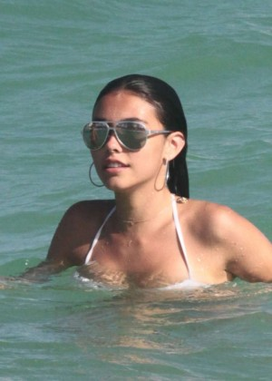 Madison Beer: In White Bikini at a Beach in Miami (adds)-62