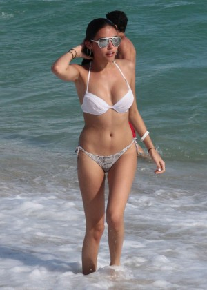 Madison Beer: In White Bikini at a Beach in Miami (adds)-69