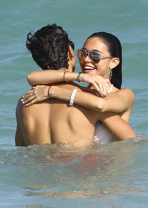 Madison Beer: In White Bikini at a Beach in Miami (adds)-82