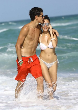 Madison Beer: In White Bikini at a Beach in Miami (adds)-90