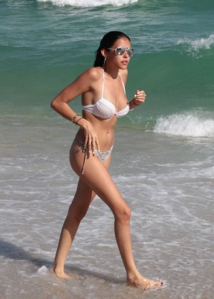 Madison Beer: In White Bikini at a Beach in Miami (adds)-96