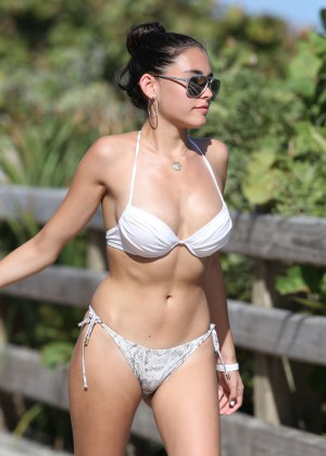 Madison Beer in White Bikini -27