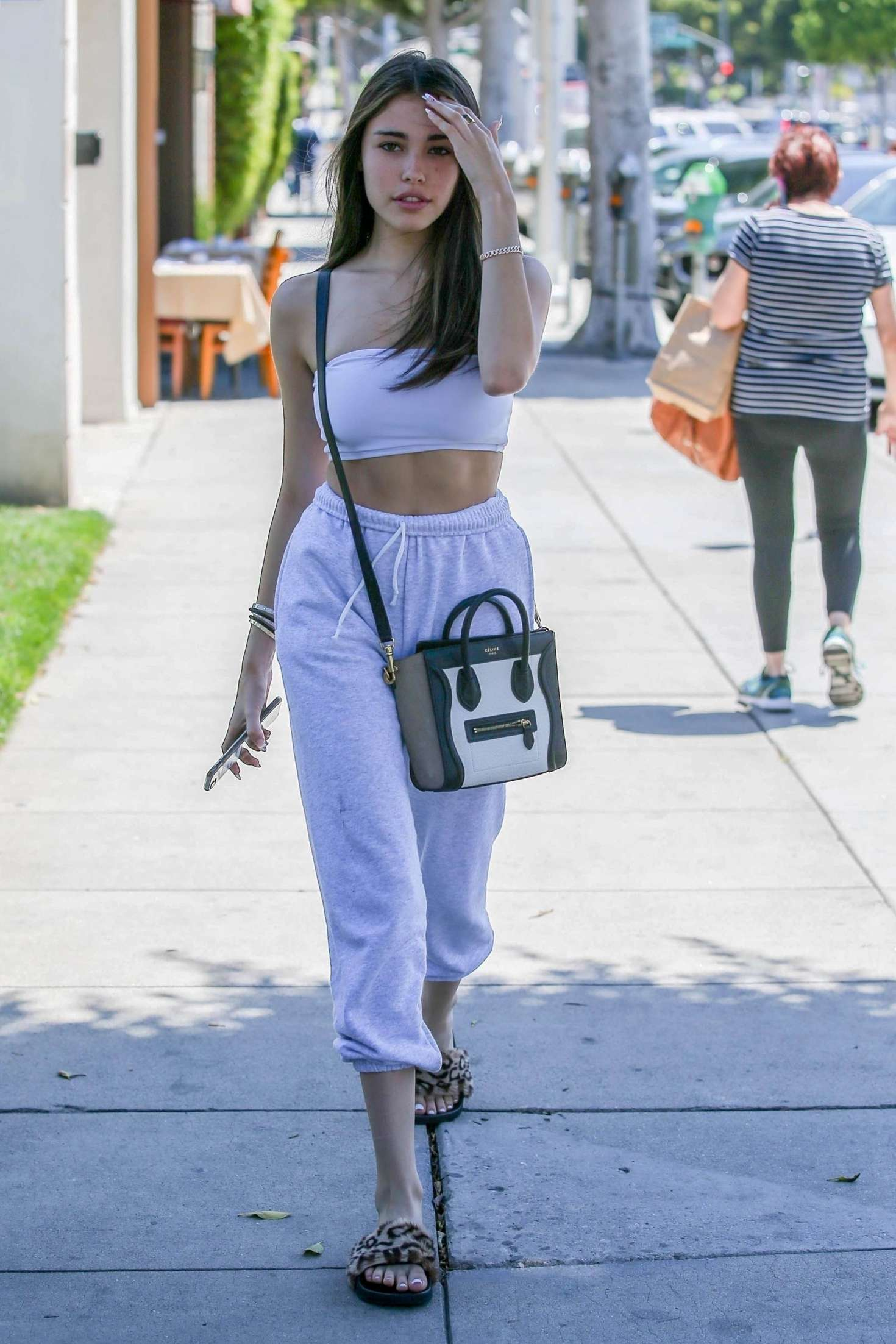 Madison Beer 2018 : Madison Beer in White Crop Top -04