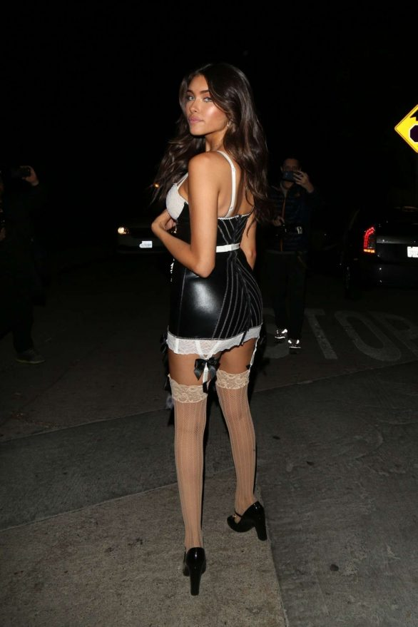 Madison Beer 2019 : Madison Beer – Leaves a private Halloween Party-05