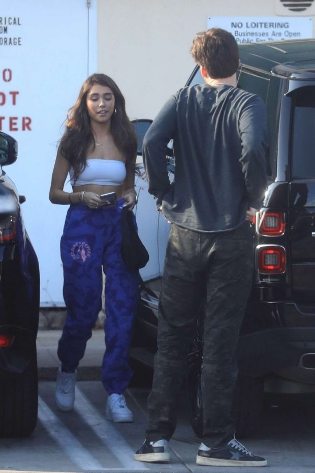 Madison beer - Leaving lunch at Le Petit on Sunset in Hollywood