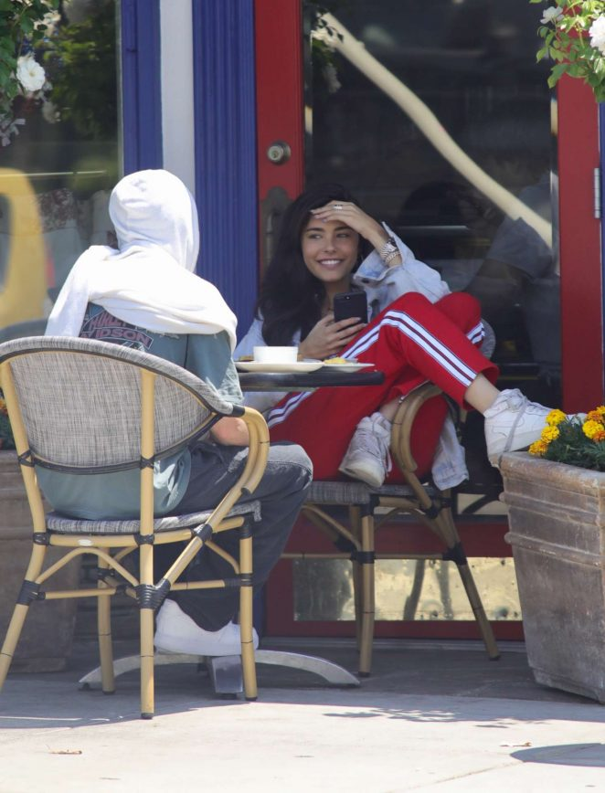 Madison Beer out for breakfast in LA -05