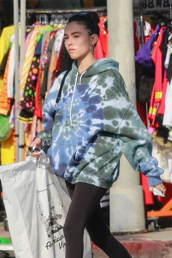 Madison Beer - Shopping at American Vintage clothing store in Los Angeles