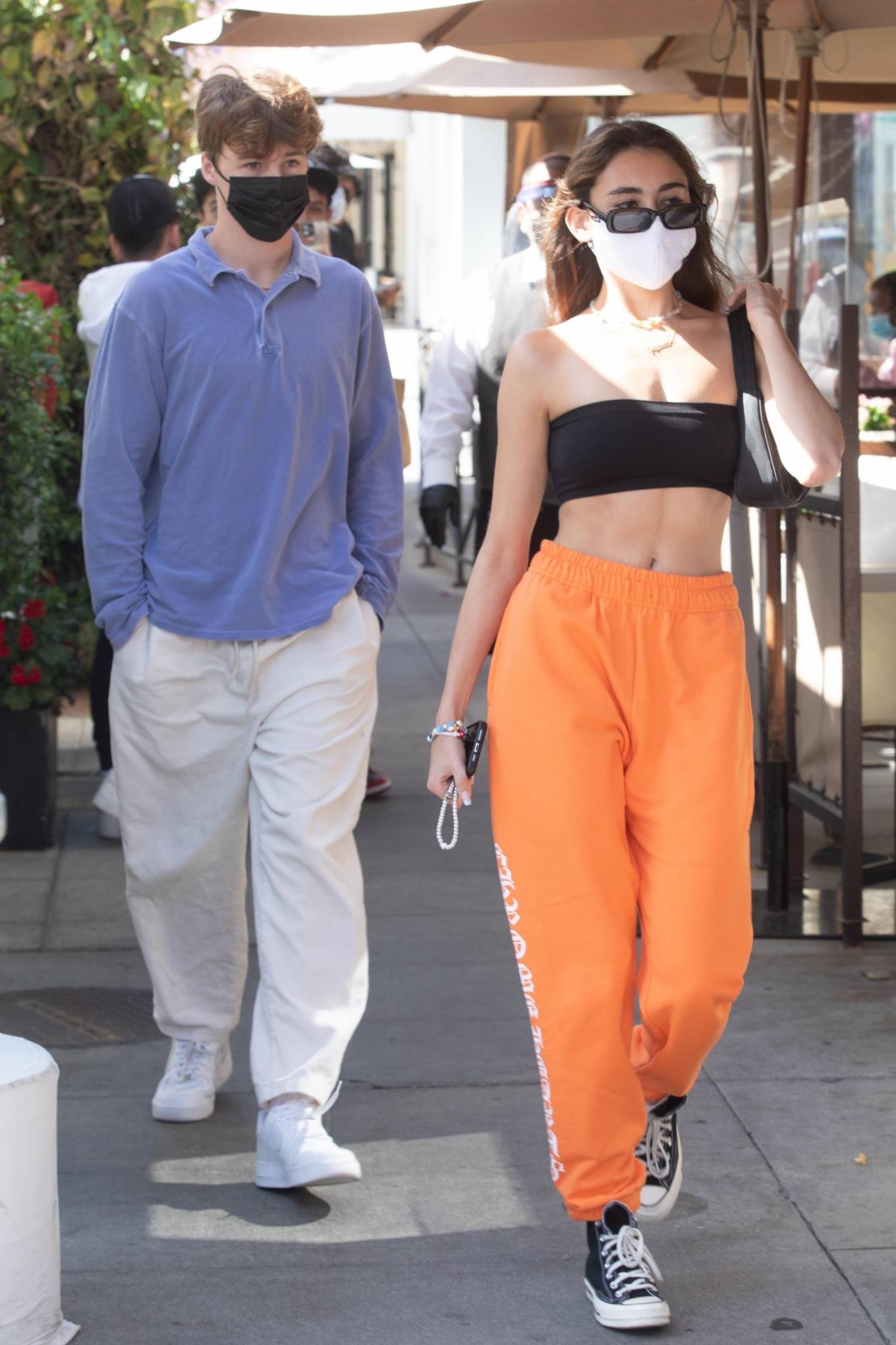 Madison Beer - Shows her abs as leaves Il Pastaio in Beverly Hills