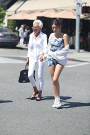 Madison Beer - Stroll with her grandma at Il Pastaio in West Hollywood
