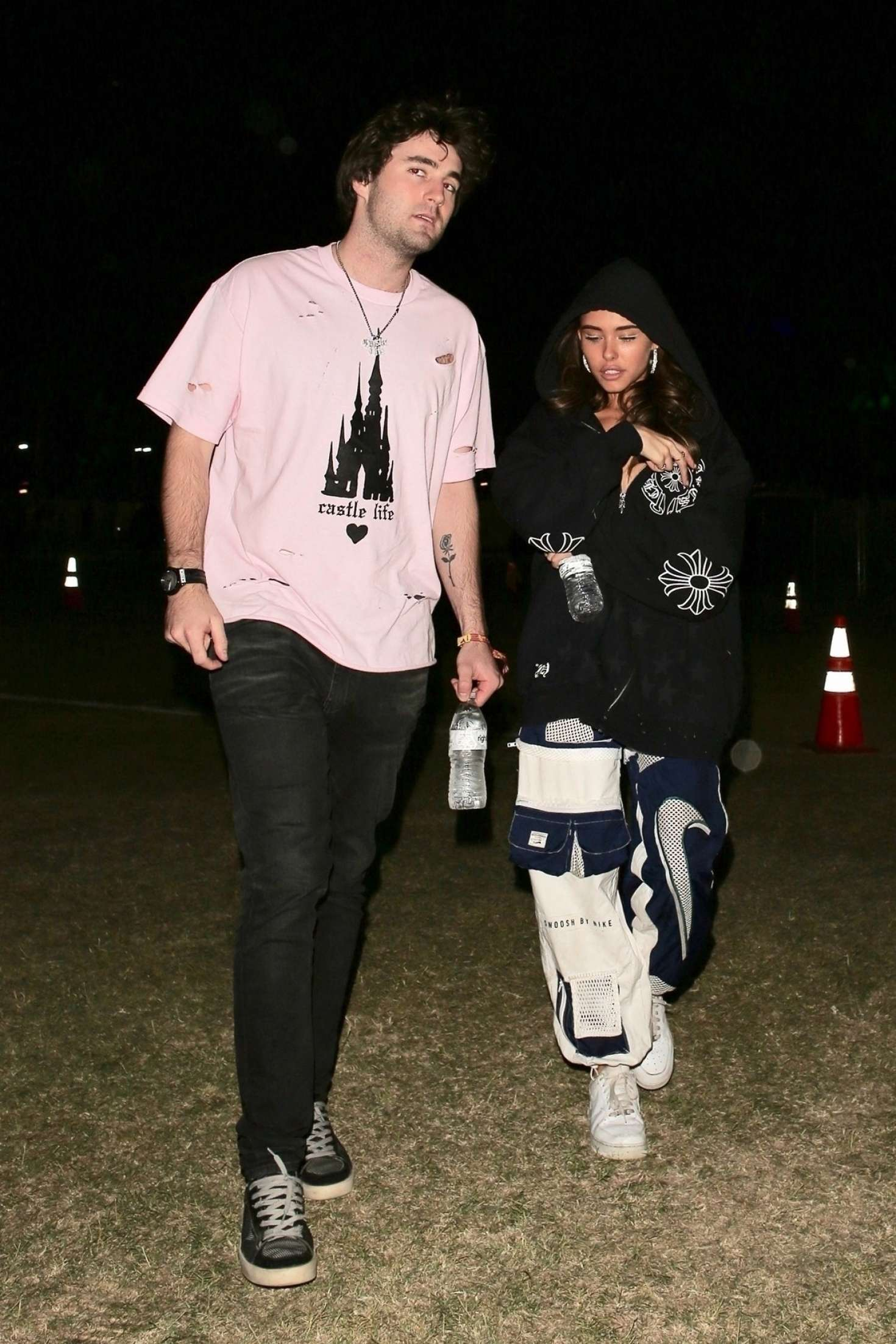 Madison Beer with a friend at Coachella in Indio