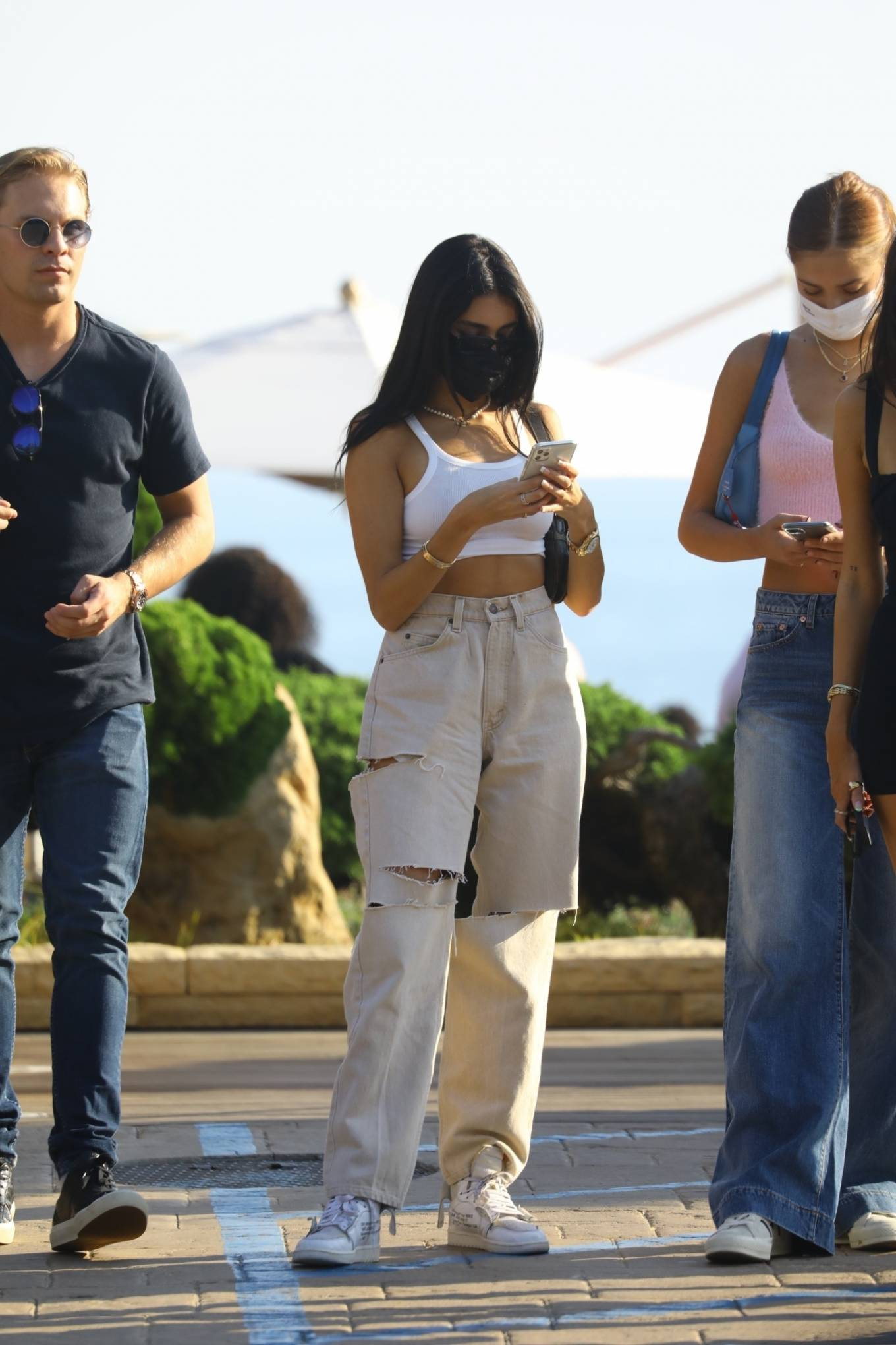 Madison Beer 2020 : Madison Beer – With a group of friends at Nobu in Malibu-05