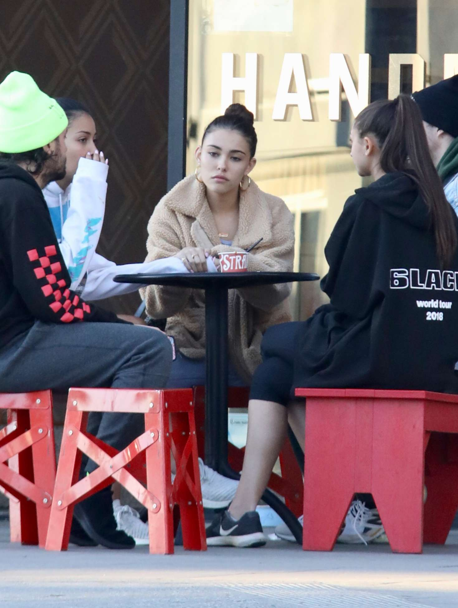 Madison Beer 2019 : Madison Beer with friends while getting ice cream -03