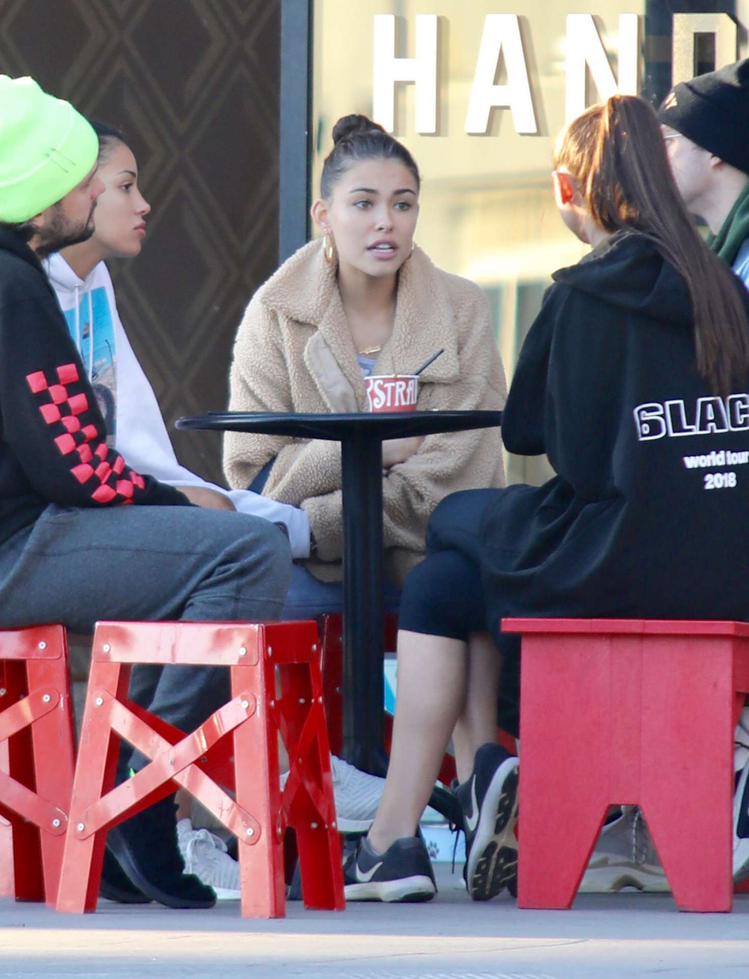 Madison Beer 2019 : Madison Beer with friends while getting ice cream -04