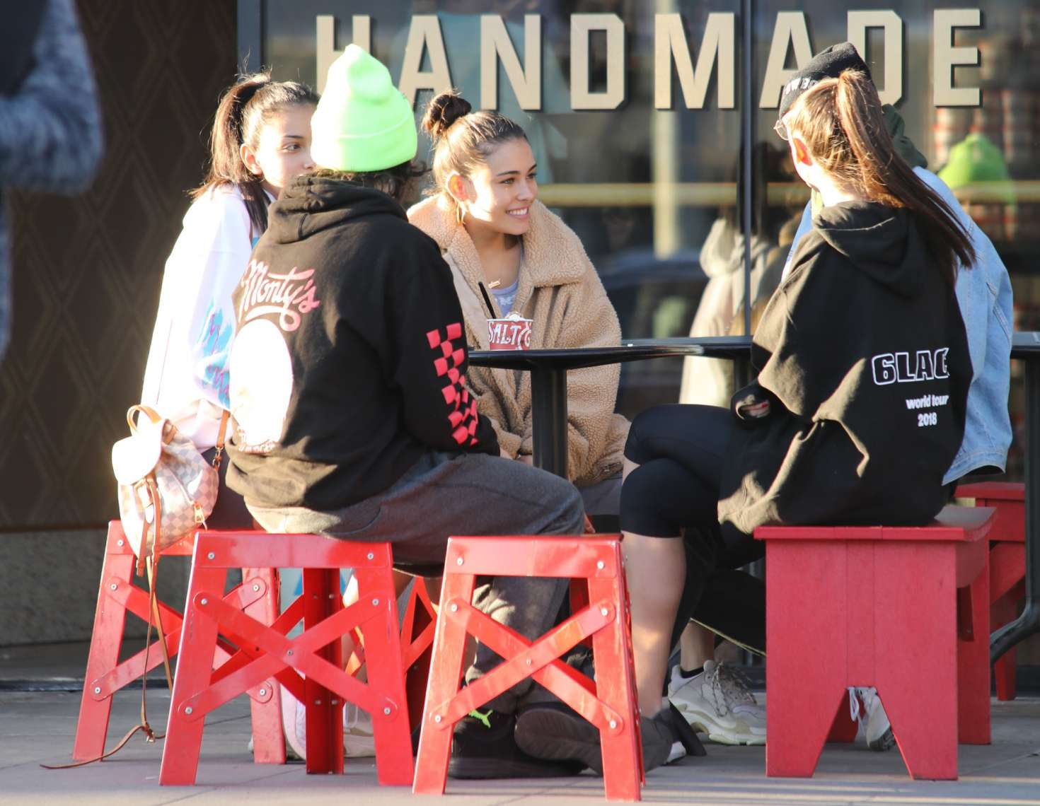 Madison Beer 2019 : Madison Beer with friends while getting ice cream -14