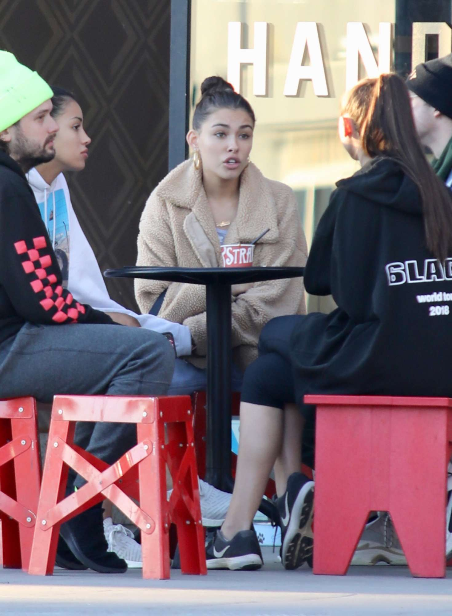 Madison Beer 2019 : Madison Beer with friends while getting ice cream -16