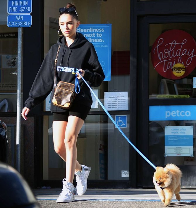 Madison Beer with her dog - Out in Los Angeles