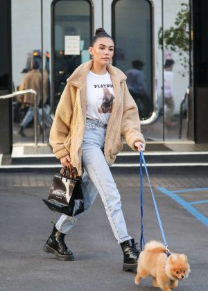 Madison Beer with her dog - Shopping in Beverly Hills