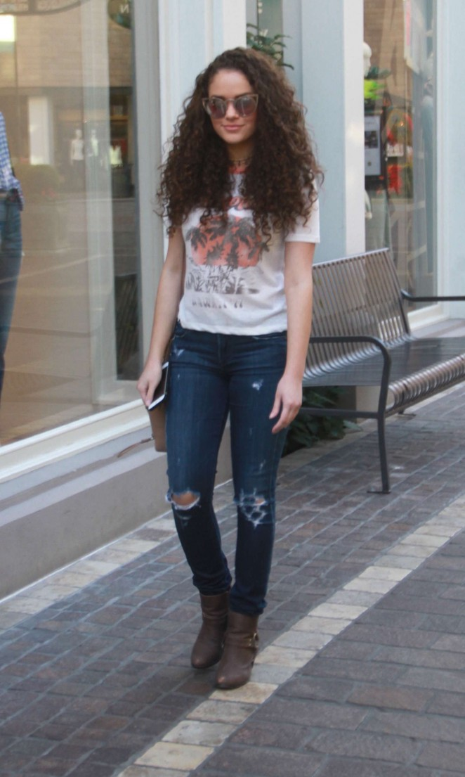 Madison Pettis in Jeans at The Grove in West Hollywood