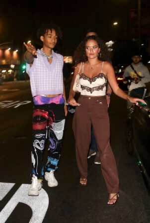 Madison Pettis - With Jaden Smith night out at the nice guy in West Hollywood