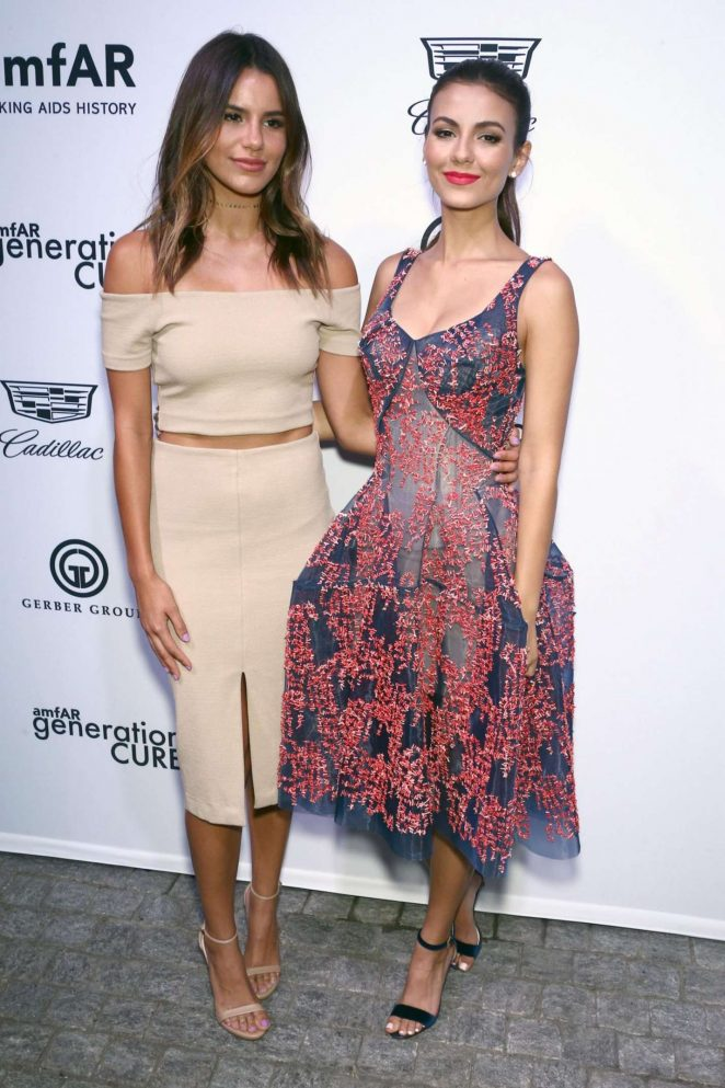 Madison Reed and Victoria Justice - 2017 amfAR generationCURE Solstice in NYC