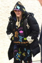 Madonna - Arrives at JFK Airport in New York City