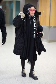 Madonna - Arrives at JFK Airport in New York