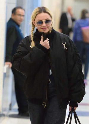 Madonna at JFK airport in New York