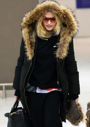 Madonna at JFK airport in NYC